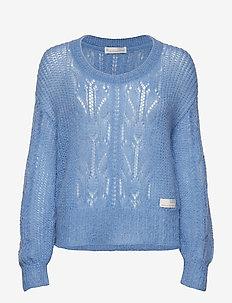 mystery fields sweater - HERITAGE BLUE