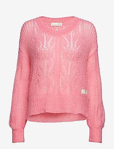 mystery fields sweater - PINK LEMONADE