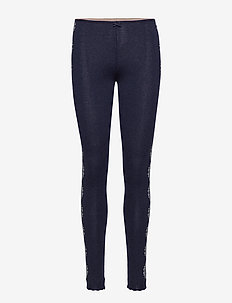 side romance leggings - FRENCH NAVY