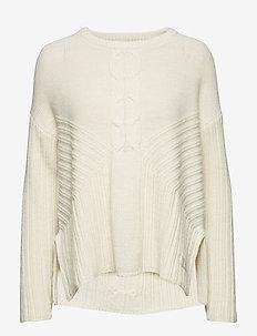 harmony play sweater - LIGHT CHALK