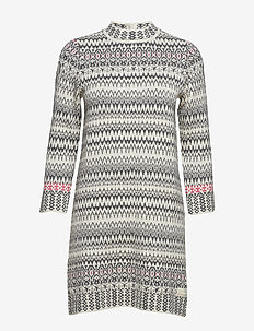 vivid vibration dress - CHALK
