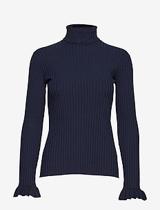 miss turtle l/s top - FRENCH NAVY