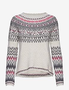 vivid vibration sweater - CHALK