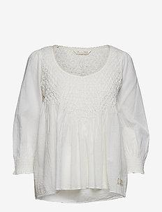 sway blouse - LIGHT CHALK