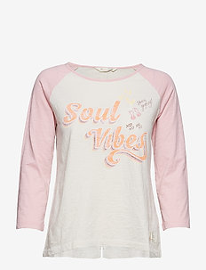 sweet vibrations l/s top - DUSTED PINK