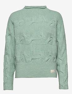 Spun Dreams Sweater - misty mint