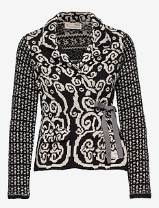 Knitted Love Cardigan - ALMOST BLACK