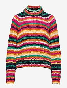 Novelty Stripe Sweater - rullekraver - multi