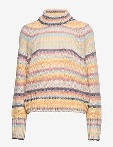 Novelty Stripe Sweater - turtlenecks - soft stripe