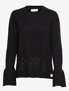 Savagely Cute Sweater - almost black