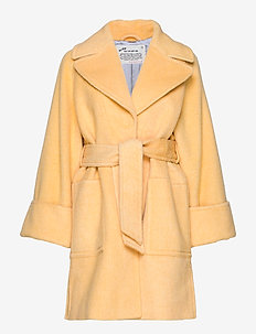Caught You Looking Coat - uldfrakker - vintage yellow melange