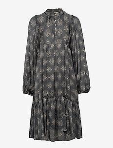 My Medallion Dress - midi kjoler - dark shadow