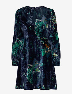 Cherry Bomb Dress - NIGHT SKY BLUE