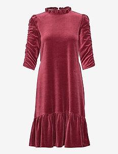 Marion Dress - midiklänningar - baked burgundy