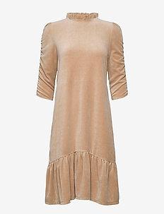 Marion Dress - midiklänningar - soft taupe