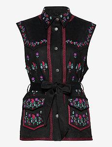 Ashley Vest - blouses zonder mouwen - almost black