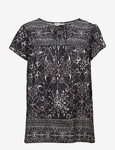 backbone blouse - ASPHALT