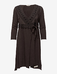 get-a-way l/s dress - BLACK LAVA