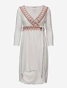get-a-way l/s dress - SANDAL WOOD