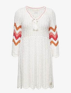 soul stripes dress - LIGHT CHALK