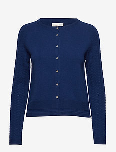 soft pursuit cardigan - MIDNITE BLUE