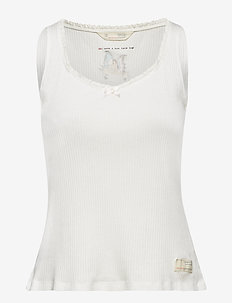 take a bow tank top - LIGHT CHALK