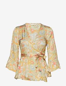 deep groove garden blouse - PEACH BLOSSOM