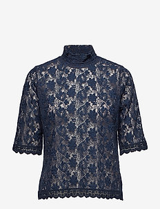 sway high blouse - FRENCH NAVY