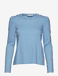 miss stripes top - BLOUSE BLUE