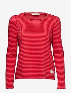 miss stripes top - HOT PINK