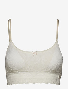 lace oddity top - LIGHT CHALK
