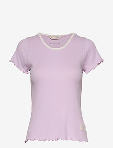 Rib Jersey Tee - PRETTY PURPLE