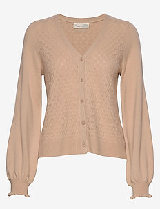 Trustworthy V-neck Cardigan - SUNRISE POWDER