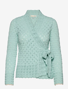 Meryl Wrap Cardigan - cardigans - light aqua