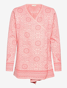 Nancy Long Cardigan - cardigans - living coral