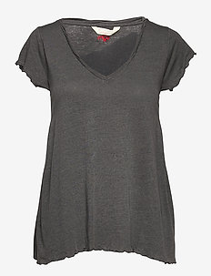 Carole Top - t-shirts - asphalt