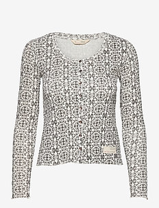 Erin Top - cardigans - light chalk