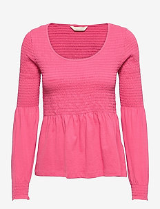 Valerie Top - pitkähihaiset puserot - pink fudge