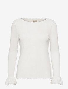 Gladys Top - long sleeved blouses - light chalk