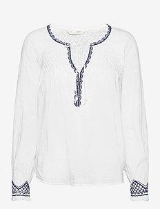 Jill Blouse - long sleeved blouses - bright white