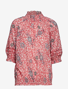 lush shake s/s blouse - BLUSH PINK