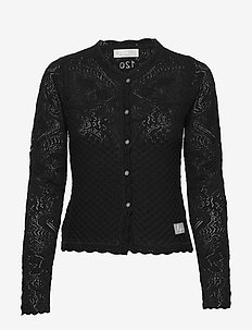 Caring Cardigan - swetry rozpinane - almost black