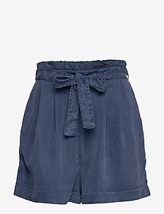 Tender Shorts - paper bag shorts - dk blue