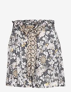 Pretty Printed Shorts - ASPHALT