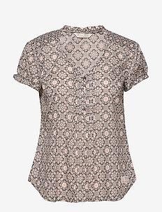 Perfect Print Blouse - blouses korte mouwen - asphalt