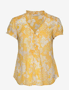Perfect Print Blouse - VINTAGE YELLOW