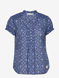 Perfect Print Blouse - VIVID BLUE