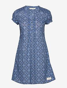 Perfect Print Short Dress - vivid blue