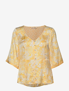 Pretty Printed Blouse - VINTAGE YELLOW