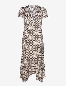 Pretty Printed Dress - ASPHALT